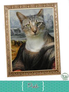 cat Piet as Monalisa (www.pimppet.com)