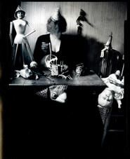 """Lauren E. Simonutti, Tomorrow is My Birthday and All My Friends are Here, 2006 From the 8 Rooms 7 Mirrors 6 Clocks 2 Minds and 199 Panes of Glass series 5 x 4"""" toned gelatin silver contact print"""