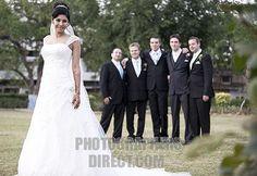 25                Bride with groomsmen