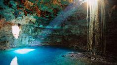 Cenote Samula Near Valladolid Yucatan Peninsula Mexico