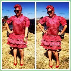 Fresh Shweshwe Dresses you should see 2019 - Reny styles African Wear, African Dress, Dresser, Shweshwe Dresses, Ethnic Wedding, African Fashion Designers, African Traditional Dresses, Wedding Attire, Short Sleeve Dresses