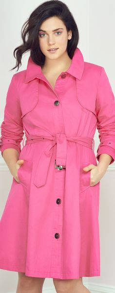 self tie coats are great for apple shaped women - http://www.boomerinas.com/2013/11/20/how-to-thrift-shop-like-a-plus-size-pro-8-tips-for-consignment-and-vintage/