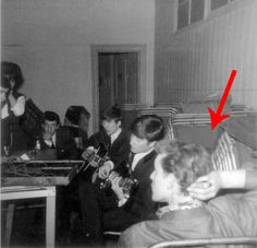 Awesome!  Matt Smith is the REAL time lord!  Here he is hanging out w/ the Beatles.