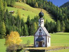 St John's Church, Val di Funes, Vilnoss, Italy  #travel