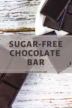 Allulose sweetened Homemade Keto Sugar-Free Dark Chocolate Bar Recipe made with only 3 ingredients in a few minutes is a perfect idea for your decadent quick and easy Keto Treat. Fully Low Carb, Gluten-Free, Dairy-Free, and Vegan, this perfect Chocolate Bar is a base for any additional flavors. Sugar Free Recipes, Gluten Free Recipes, Low Carb Recipes, Sugar Free Dark Chocolate, Dark Chocolate Bar, Low Carb Sweets, Low Carb Desserts, High Protein Low Carb, Low Carb Keto