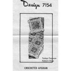This easy crochet afghan and matching pillow pattern is made in pretty rose motif blocks in three colors of Knitting Worsted.  The pattern is a Mail Order known as Design 7154