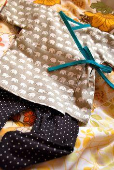 Baby kimono and leggings pattern by habitual