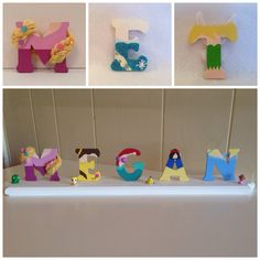 Disney Princess Letters. Hand painted to look by IMadeThisCrafts