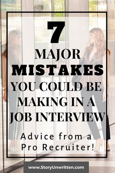 7 Top Mistakes You Could Be Making in a Job Interview! Check out the advice of a professional recruiter on the top mistakes job applicants make in the interview process and how to avoid them to stand out! Interview tips Job Interview Preparation, Interview Questions And Answers, Job Interview Tips, Job Interviews, Customer Service Interview Questions, Management Interview Questions, Teacher Interviews, Interview Process, Job Career