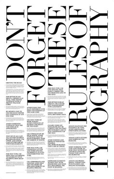 Don't forget these rules of typography.