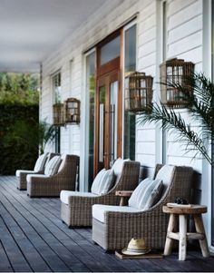 We need a place to gather for cocktails, y'all! Meet me out on the Piazza, sweet friends! A porch should always be prepared for you to relax and enjoy your view. Outdoor Rooms, Outdoor Chairs, Outdoor Living, Outdoor Decor, Exterior Design, Interior And Exterior, Garden Furniture, Outdoor Furniture Sets, Accent Furniture
