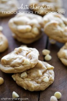 White Chocolate Macadamia Nut Cookies from http://chef-in-training.com …These cookies are soft and chewy and are honestly the best macadamia nut cookie recipe out there!