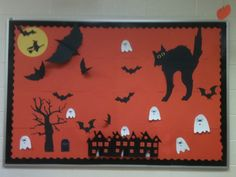 Halloween bulletin board done at work