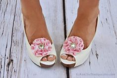 Pink Shoe Clips  Wedding Bridesmaid Date by KyliesChicBoutique, $12.00 Etsy