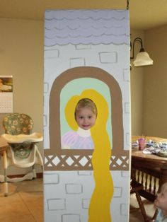 Rapunzel Party Photo idea- I could paint both characters