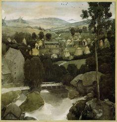 Alan Lee illustration for The Mabinogion