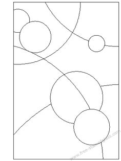 Pattern for a stained glass window - perfect string to tangle!