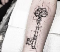 Tattrx Key tattoo by Felipe Rodrigues