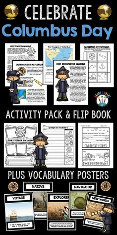 Columbus Day is almost here! Students will love learning all about this famous explorer! Celebrate Columbus Day with this creative unit that includes articles, activities, vocabulary, and a flip book!