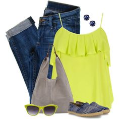 """""""Summer Ruffles"""" by kswirsding on Polyvore"""