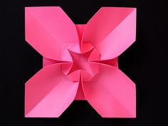 Fiore quadrato, variante 2 - Square Flower, variant 2. Origami, from a sheet of copy paper, 21 x 21 cm.  Designed and folded by Francesco Guarnieri, April 2013. Instructions, CP: http://www.flickr.com/photos/f_guarnieri/9162110596/