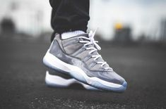 quality design 8712d 413f1 Release Reminder  Air Jordan 11 Low Cool Grey  Sneakers Air Jordans, Jordans  Sneakers