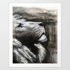 Lion Art Print by Mark Jackson - $20.00