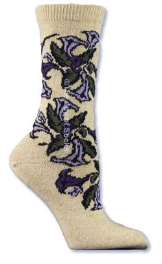 The Joy of Socks - E.G. Smith Oatmeal Trumpet Vine Recycled Cotton Socks (Women's), $8.25 (http://www.joyofsocks.com/e-g-smith-oatmeal-trumpet-vine-recycled-cotton-socks-womens/)