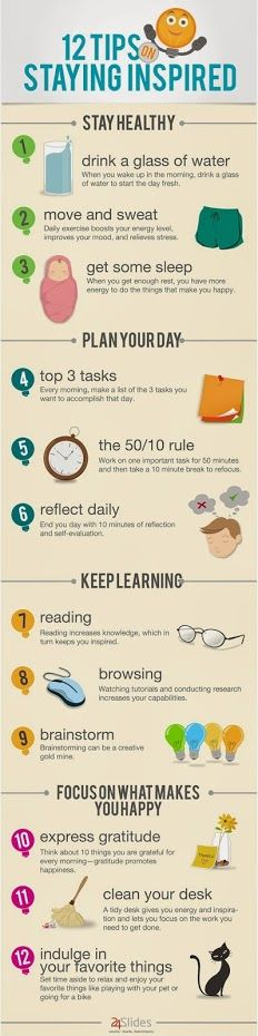 Check out a really neat infographic to help you stay inspired and motivated to get things done! :)
