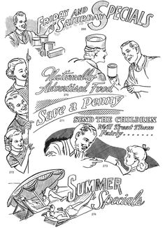 sample from Authentic 1940s Spot Illustrations CD-ROM and Book: 300 Vector Files