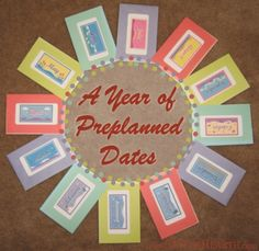 Facilitate quality, one-on-one time with your spouse by giving him or her a year's worth of preplanned dates. This makes a great Valentine's Day, birthday, or Christmas gift!