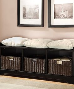 Take a look at this Black Storage Bench & Baskets on zulily today!