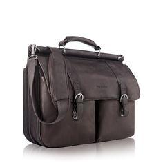 Executive Briefcase Warren Leather Brown (D535)