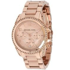9d0b12c48f Michael Kors Women s MK5263  Blair  Rose Gold-Tone Chronograph Watch