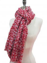crimson dot scarf.