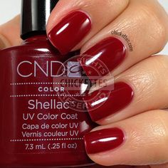 CND Shellac Decadence Swatch by Chickettes.com