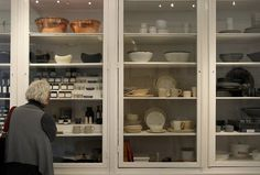 Huge glass doors make viewing at some of  the merchandise at March easy. March, a new kitchenware store on Sacramento Street in San Francisco, Calif., features everything for the kitchen and cooking. Photo: Brant Ward, The Chronicle / SF