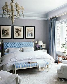 Cool/cold blue and grey tones - blue is my favorite and this has a European feel to it