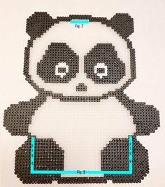 Panda Light 🐼 | crumbsbytanja Diy Perler Beads, Pearler Beads, Hama Beads Patterns, Beading Patterns, Bead Crafts, Pixel Art, Panda, Crafts For Kids, Handmade