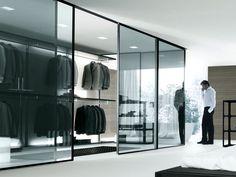 contemporary bedroom design glass door walk in closet black: modern walk in closet design