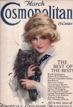 1912 Cosmopolitan March Harrison Fisher with Black Cat Cover | eBay
