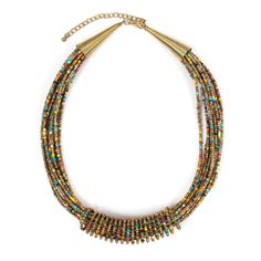 Collier multi-perles dorées - Une touche d'énergie brute - 14,95 €