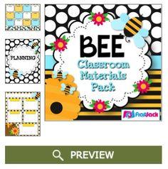 http://www.teacherspayteachers.com/Product/BEE-Themed-Classroom-Decor-Materials-Pack-1247730