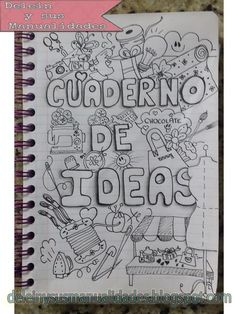 uploaded this image to & deleinysusmanualidades& de las ideas& See the album on Photobucket. What To Draw, How To Draw Hands, Filofax, Moleskine, Decorate Notebook, Journal Inspiration, School Supplies, Diy And Crafts, Scrapbook