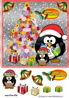 Hawaii Penguin Christmas on Craftsuprint - Add To Basket!