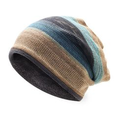 5091b5f8c6 (ebay link) Mens Womens Outdoor Winter Stripes Beanie Hat Scarf  fashion   clothing