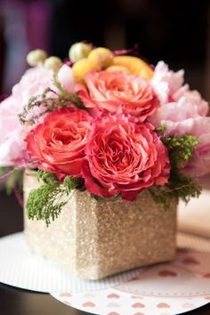 Oh So Beautiful Paper: Paper Party 2013! Floral arrangement by Soiree Floral, Photo Credit: Charlie Juliet Photography