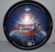 BDK WBSW-1601 Black Superman Steering Wheel Cover