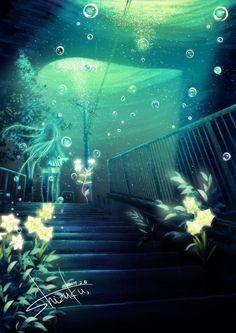 Anime Underwater on Pinterest   Underwater, Underwater City and Jelly