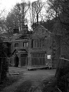 Spooky derelict house near Todmorden, in West Yorkshire,England.